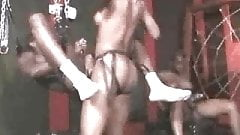 Ebony Goddesses with Strapons in gay gangbang part 1 - RTS