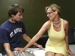 Penis of young Mature woman milks his penis wf