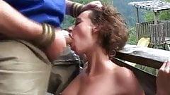Грубый секс в горах