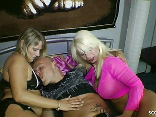 Teen girl seduces guy to fuck German milf and her step-sister seduce younger guy to fuck