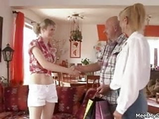 Sex with mom and dad photo - His old mom and dad envolve her into dirty sex