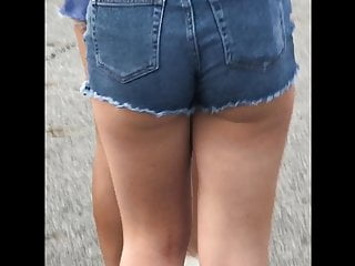 Boy short coed tgp Sexy juicy candid booty jean shorts