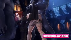 Collection of Video Games Heroes Fuck in 3Some