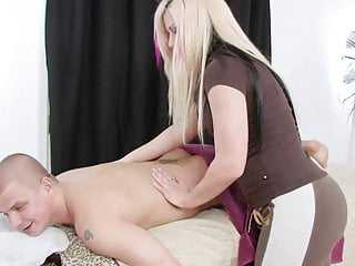 Vanessa man show pussy Punky vanessa shows her massage client her curves on the table