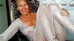 Lukerya in a white net 2