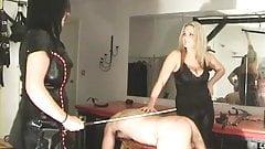 two mistresses punish a slave