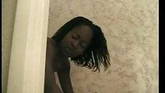 Dirty ebony tramp bonked