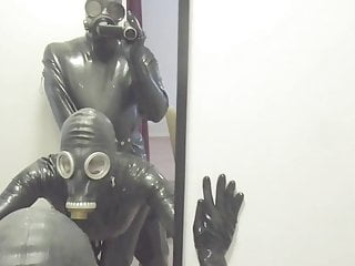 Gay water sports golden showers Anondesire rubber and gas mask fucking golden showers