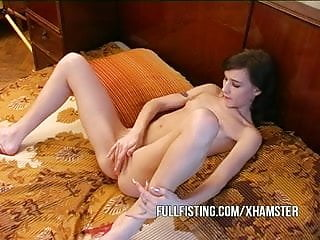 Girl gets fisted in the pussy Petite little horny slut gets fisted