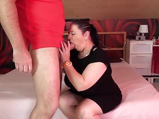 Chubby mom videos Mature chubby mom suck and fuck fat cock