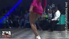 Hot and very Sexy Girl in Short Dress dancing Reggaeton