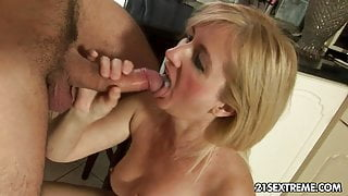 Mature mom licks ass and fucked by not her son