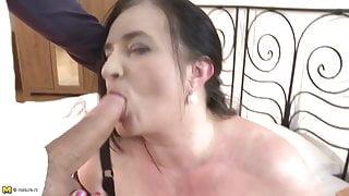 Mature BBW mother fucks young lucky son