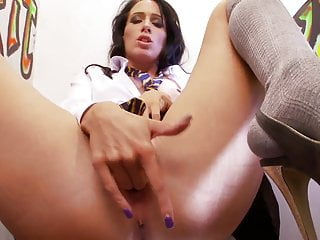 Blowjob through hole - Horny cindy gives hard cock blowie through a glory hole