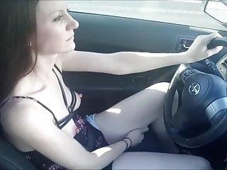 Masturbation while driving srories Skilled girlfriend masturbating while driving