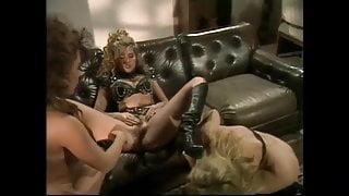 Busty Lesbian Latex Threesome (HD)