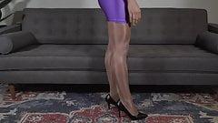 My Victoria's Secret Glossy Smooth Pantyhose