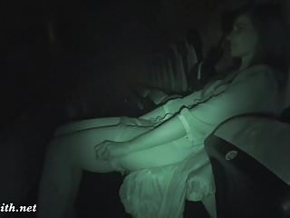 Sex flash movie Jeny smith undresses at movie theater
