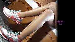 Asian pantyhose tease