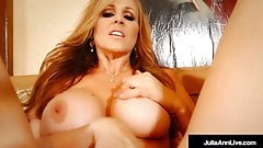 Potty Mouth Mommy Julia Ann Shoves Her fingers In Her Pussy!