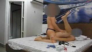 Girlfriend pegging her boyfriend 16