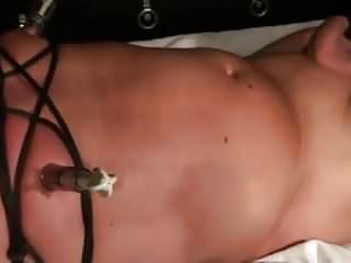 Singer sewing machine vintage Sewed cock and pierced nipples