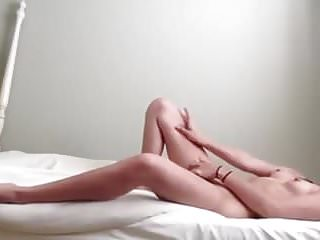 Girl masterbating cum video Teen masterbates and cums on her bed