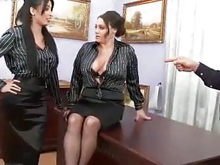 Office sex with your boss - If the boss gets mean, office chicks become ass istants.