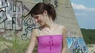 brunette teen upskirt