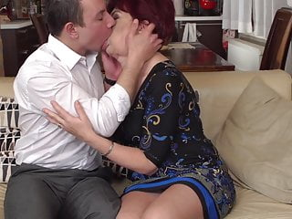 Young boy getting blowjob - Hairy granny gets taboo sex from boy