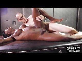 Black shemale masturbation - Sexy ebony shemale getting pounded