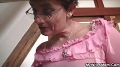Hairy mother-in-law begging for taboo fuck