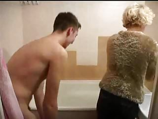Porn mother with son in kitchen Mother with son