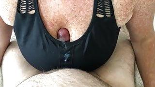 Freckled sports bra titfuck