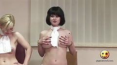 Hot girls pranks strangers with their tits (Naked and funny)