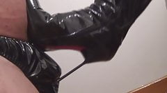 Get slapped and lick my boots clean