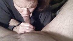 Gabi sucking that head at the start of a great blowjob