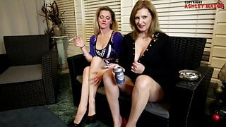 Mommy and Aunty – Smoking Blowjob