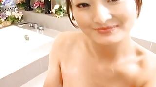 Risa Murakami cleans cock and licks man - More at hotajp.com