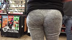 Juicy Jiggly BBW Booty in Sweats Close Up