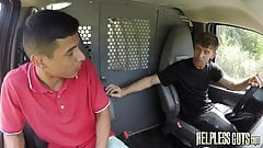 Latino hitchhiker gets taken advantage of when he gets ride