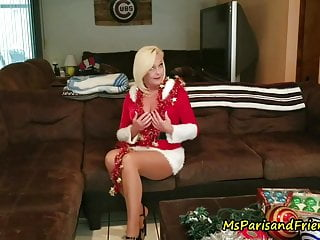 Bedroom decorating teen girl Decorating for the holidays makes her pussy wet