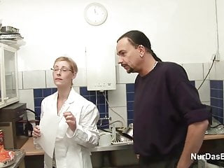 Adult in employment - German mother in lingerie seduce to fuck at work by employer