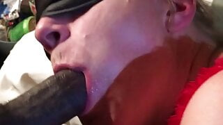 White Mom Nut Snatching Young BBC Cum Load. Nympho