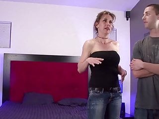 Milf threesome seduce neighbor Milf tricks neighbors son and seduces in to fuck