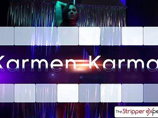 Mindy vega suking dick - The stripperexperience - karmen karma suking 3 big dicks