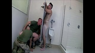 Army's gloryhole 2 (threesome)