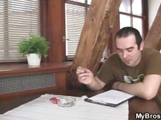 Bang bros xxx clips His bro banging his gf on the table