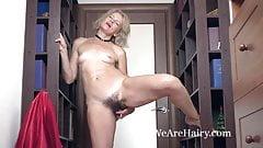 Diana Douglas strips and masturbates in a hallway