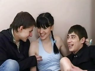 Russian teens blowjobs Russian teens threesome like hardcore action